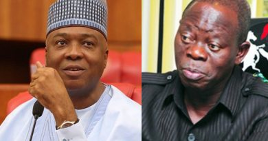 Oshiomhole takes dig at Saraki says Kwara people buried his career